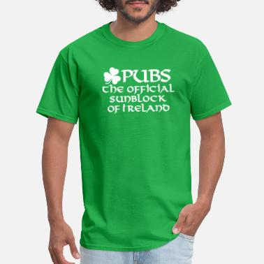 Guinness Beer Pubs, the official sunblock of Ireland - Men's T-Shirt