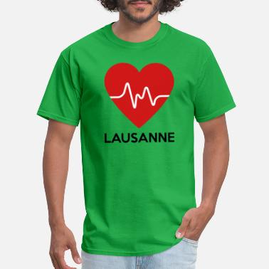 Lausanne Heart Lausanne - Men's T-Shirt