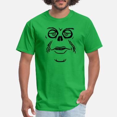 Creepy zombie unhappy face mouth sad monster eyes skeleto - Men's T-Shirt
