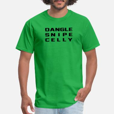 Snipe Dangle Snipe Celly Distressed Hockey Design - Men's T-Shirt