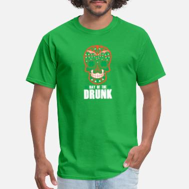 St Patricks Day Green St. Patrick's Day Sugar Skull Day Of The Drunk - Men's T-Shirt