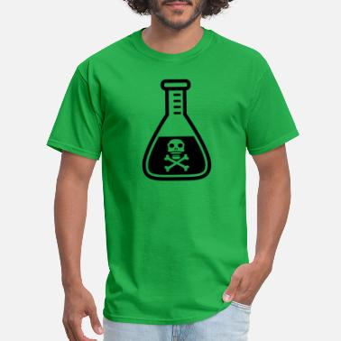 Danger caution dangerous researcher flask glass laborator - Men's T-Shirt