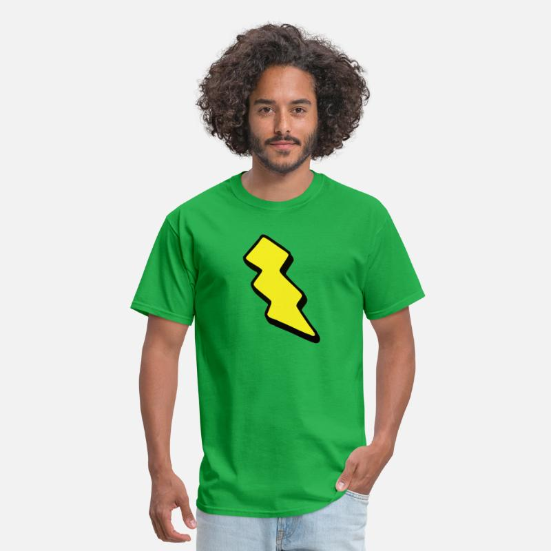 Bolt T-Shirts - bolt - Men's T-Shirt bright green