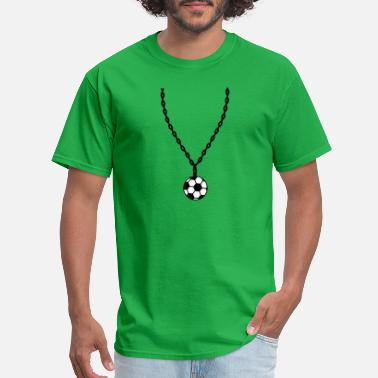 Jewelry necklace football jewelry play kick goal shooting - Men's T-Shirt