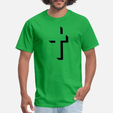 Dimensional three-dimensional cross - Men's T-Shirt