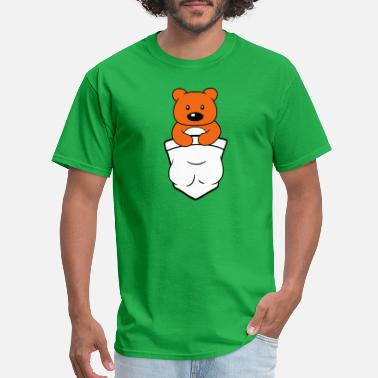 Chest Sayings teddy grizzly bear bear cute baby child stuffed an - Men's T-Shirt