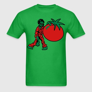 Zombie with Tomato - Men's T-Shirt