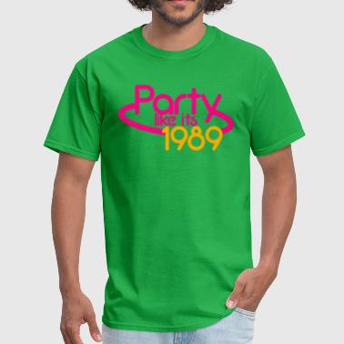 PARTY like its 1989 NEON sign - Men's T-Shirt
