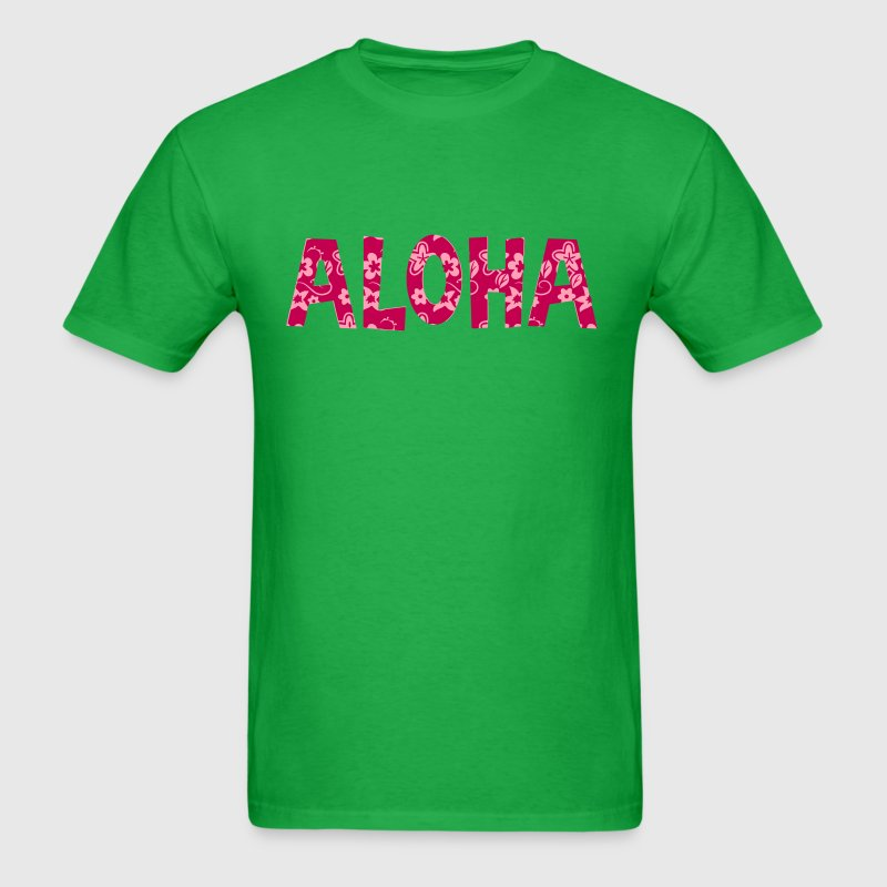 aloha flower pattern - Men's T-Shirt