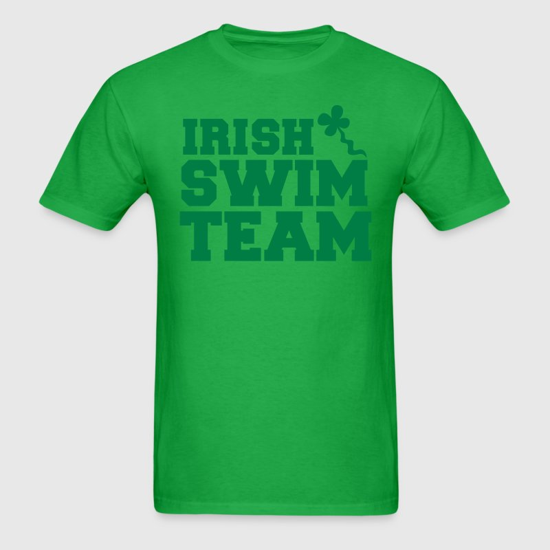 irish swim team with shamrock sperm  - Men's T-Shirt