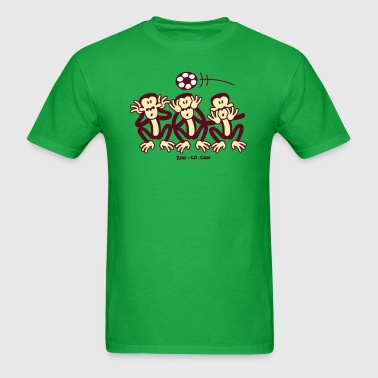 Three Wise Soccer Monkeys - Men's T-Shirt