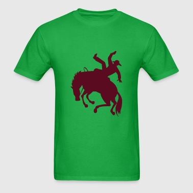 Bronc Rider on Bucking Horse - Men's T-Shirt