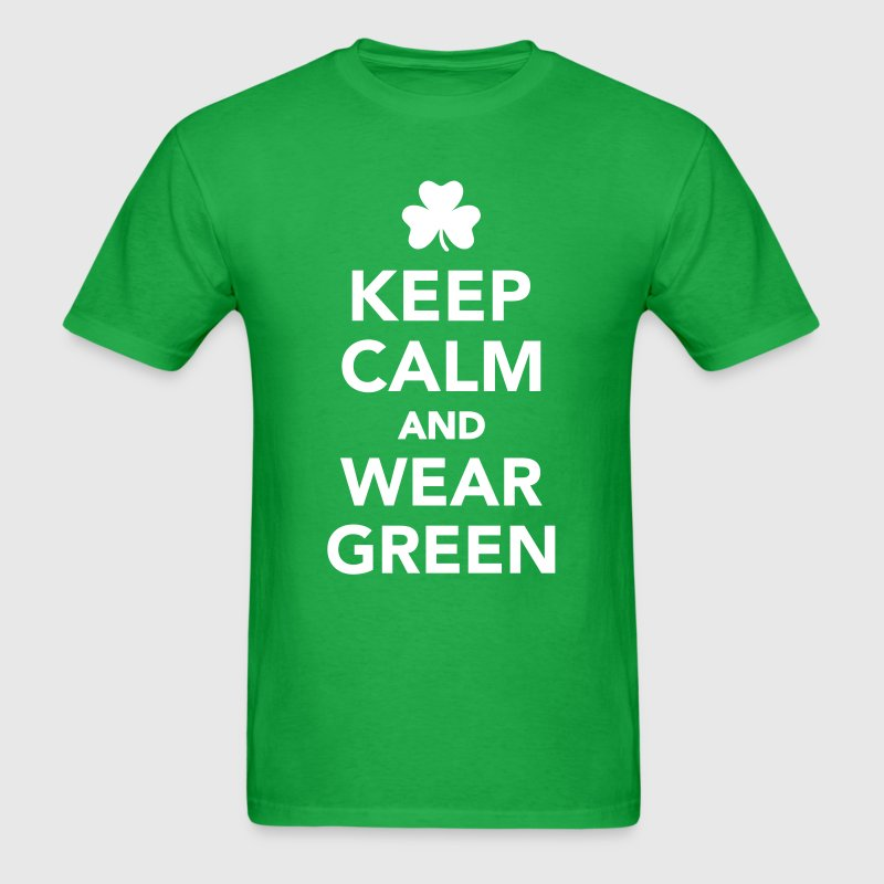 Keep calm wear green - Men's T-Shirt