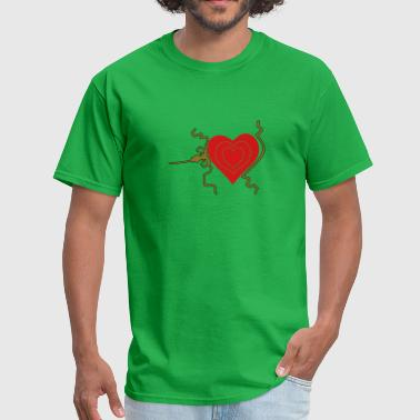 Grinch heart, three sizes - Men's T-Shirt