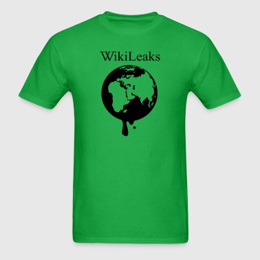 Wikileaks Globe - Men's T-Shirt