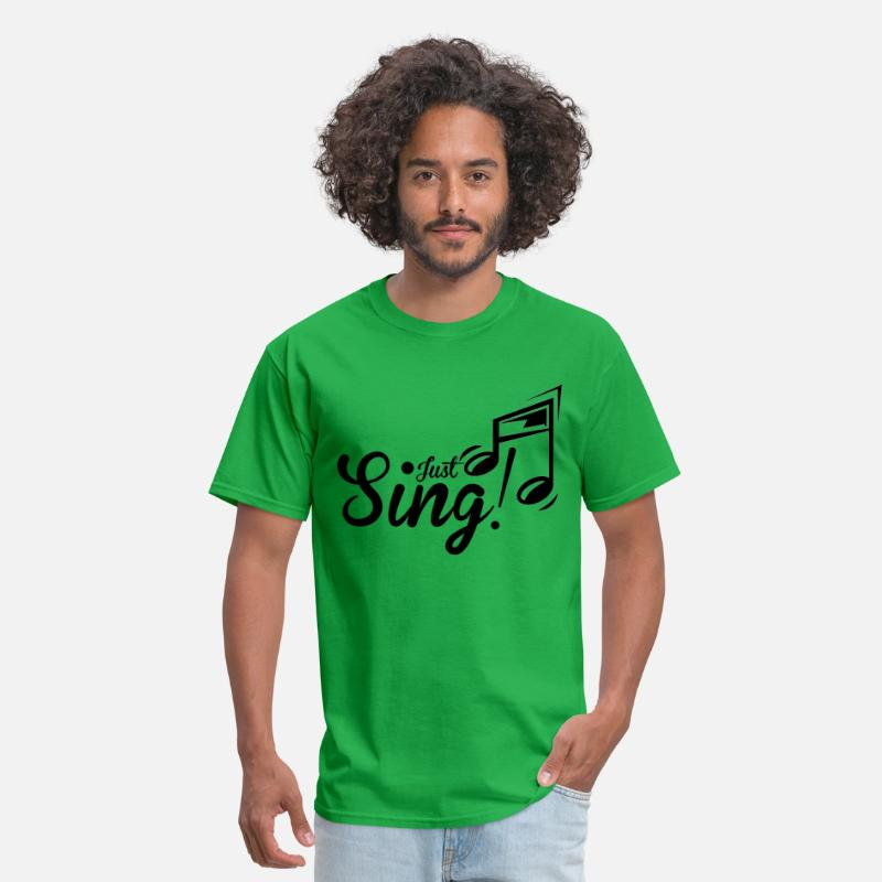 Choir T-Shirts - Just Sing - Men's T-Shirt bright green
