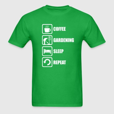 Funny Gardening Sleep Repeat - Men's T-Shirt
