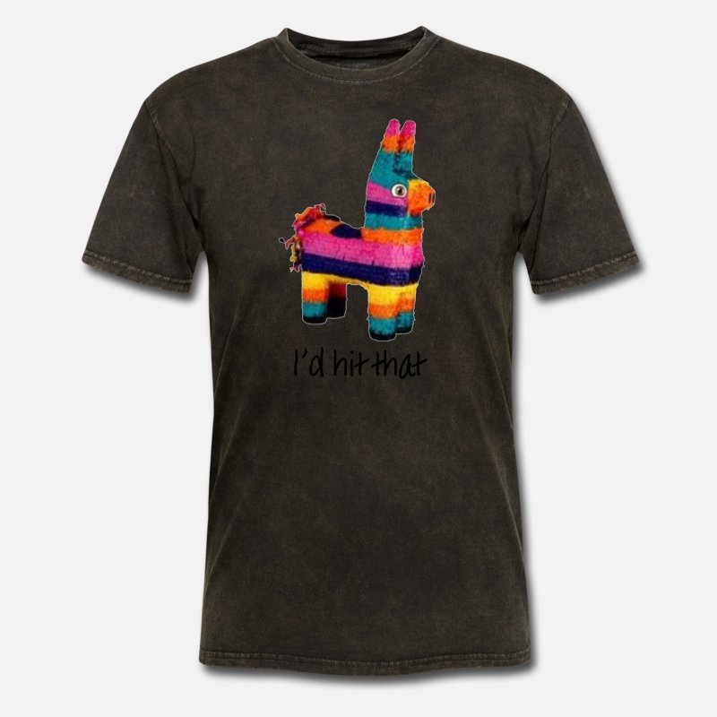 I'd Hit That (Pinata) Men's T-Shirt - mineral black