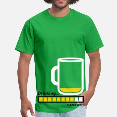 Alcoholic Beverages Cartoon drinking - Men's T-Shirt