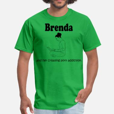 Porn Cute Brenda: Crippling Porn Problem - Men's T-Shirt