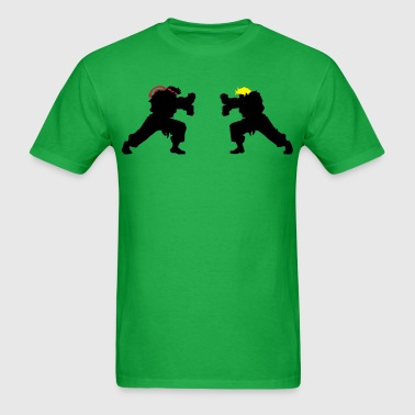 Ryu and Ken Hadouken Silhouettes - Men's T-Shirt