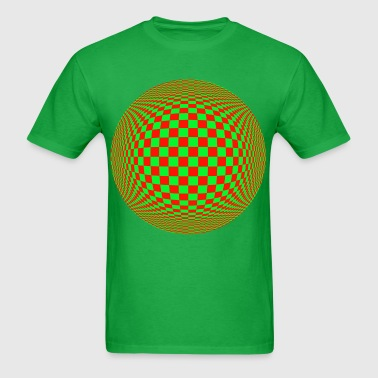 Red Green Illusion - Men's T-Shirt