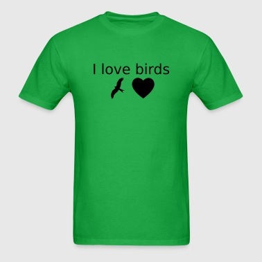 I love birds schwarz - Men's T-Shirt