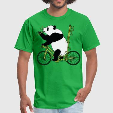 Panda Bear Riding Bamboo Bike - Men's T-Shirt