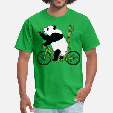 Bear On Bike Panda Bear Riding Bamboo Bike - Men's T-Shirt