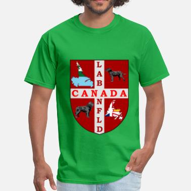 Newfoundland & Labrador Newfoundland and Labrador Dogs Shield Canada - Men's T-Shirt