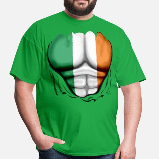 b5ac7d97d Ireland Flag Ripped Muscles, six pack, chest t-shirt Men's T-Shirt ...