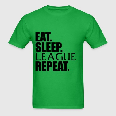 Eat Sleep League Repeat - Men's T-Shirt