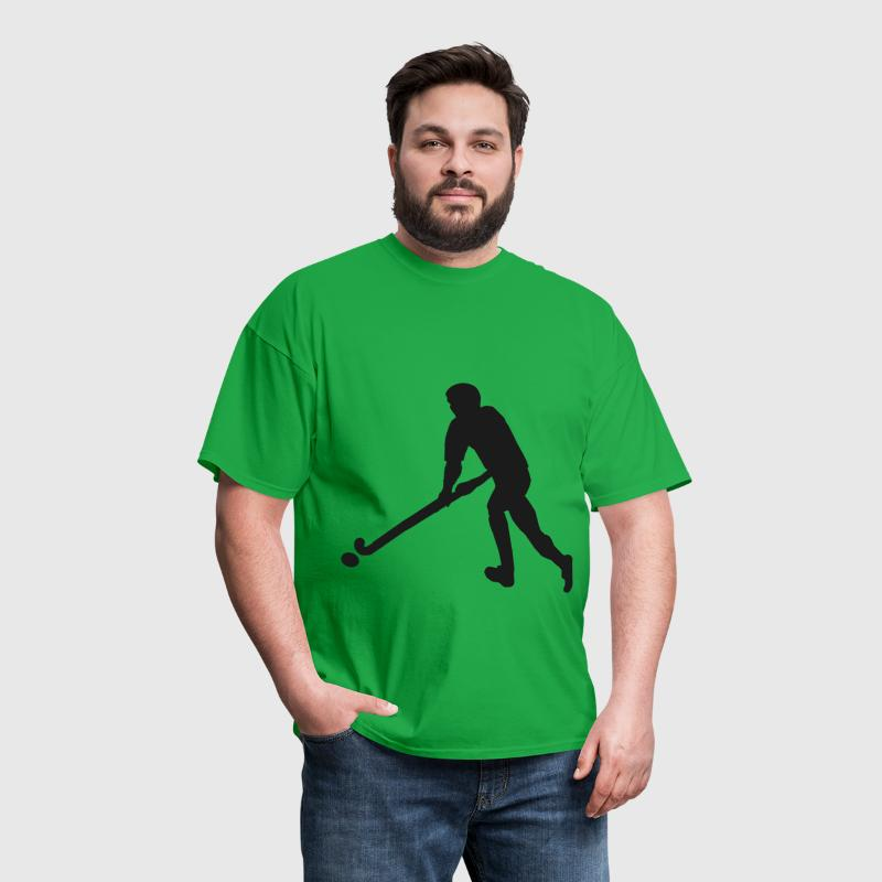 FieldHockeyMaleSilhouette - Men's T-Shirt