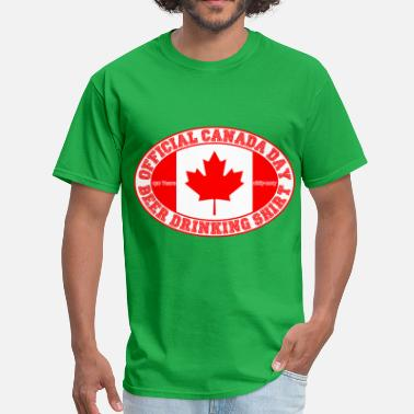 Canada Drinking OFFICIAL CANADA DAY BEER DRINKING SHIRT 150 - Men's T-Shirt
