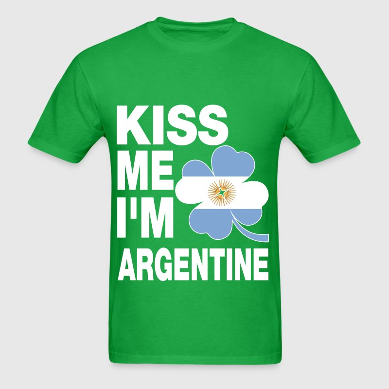 Kiss me I'm Argentine - Men's T-Shirt