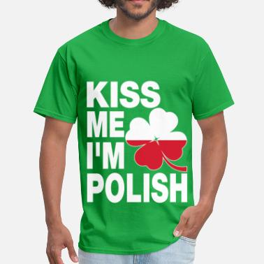 Polish Kids Kiss me I'm Polish - Men's T-Shirt