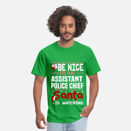Christmas T-Shirts - Assistant Police Chief - Men's T-Shirt bright green