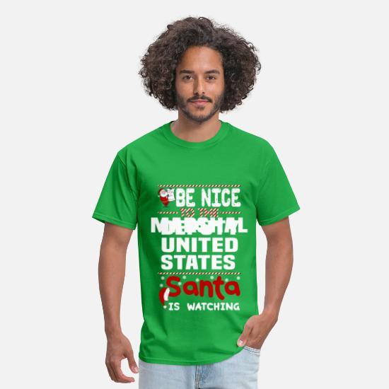 Christmas T-Shirts - Deputy United States Marshal - Men's T-Shirt bright green