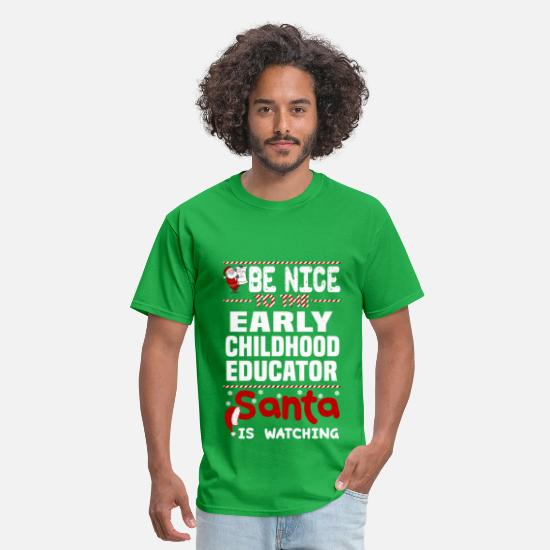 Early T-Shirts - Early Childhood Educator - Men's T-Shirt bright green