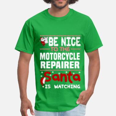 Motorcycle Xmas Motorcycle Repairer - Men's T-Shirt