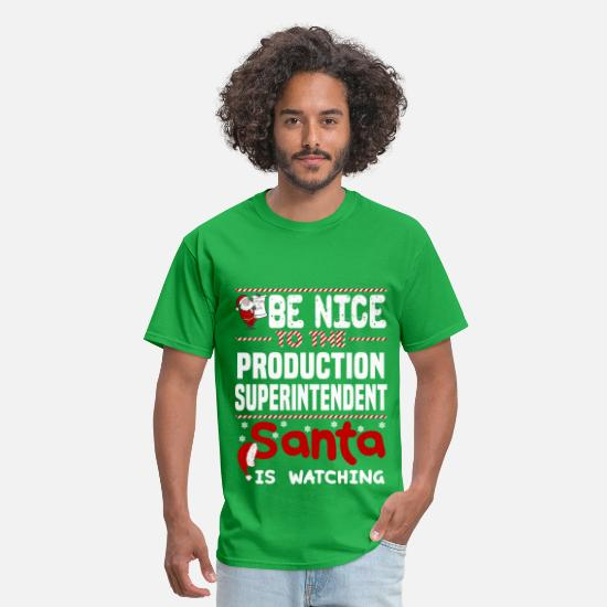 Christmas T-Shirts - Production Superintendent - Men's T-Shirt bright green