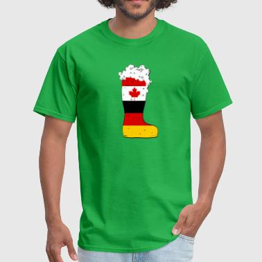 German - Canadian Beer Boot - Men's T-Shirt