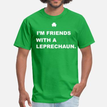 Kids Leprechaun Friends With a Leprechaun - Men's T-Shirt