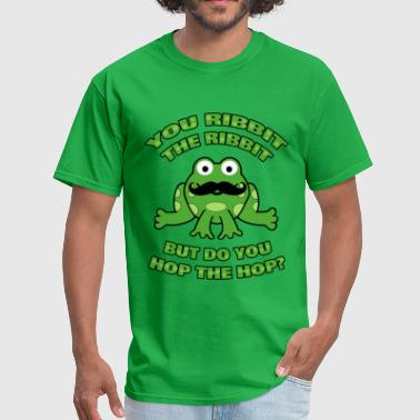 Funny Mustache Frog Hop the Hop - Men's T-Shirt