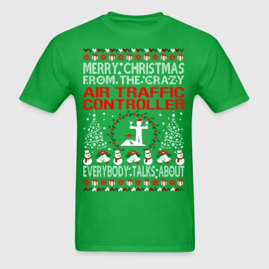 Merry Christmas Air Traffic Controller Ugly Tshirt - Men's T-Shirt