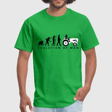 Chicken Evolution evolution_bauer_mit_treaktor_032013_a_2c - Men's T-Shirt