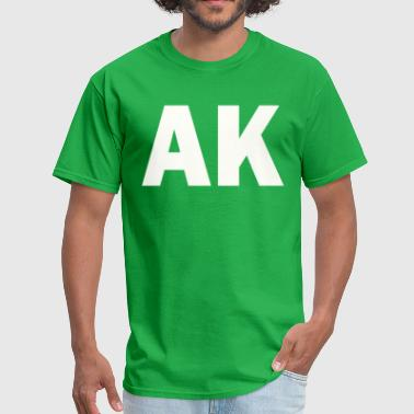 PLACE AND TIME AK WHITE - Men's T-Shirt
