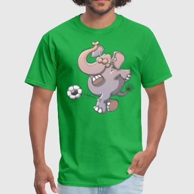 Elephant Kicking a Ball - Men's T-Shirt