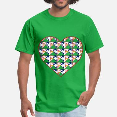 Nl NL FLAG IN HEART IN HEART - Men's T-Shirt