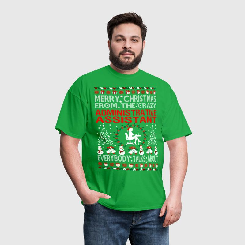 Merry Christmas From Administrative Assistant Ugly - Men's T-Shirt